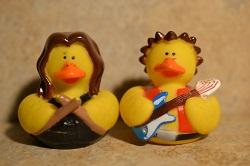 Guitar & Drummer Ducks