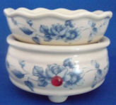 Soy Wax Melt Tart Burner-Wedgewood Blue on Ivory