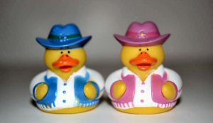 Cowboy and Cowgirl Ducks