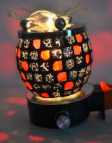 Black and Red Mosaic Tile Nightlight